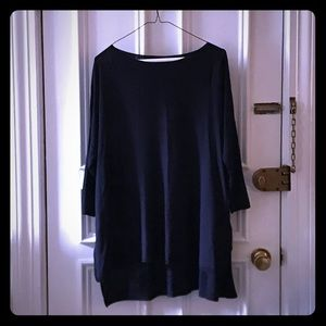 H&M Navy quarter length sleeve light sweater